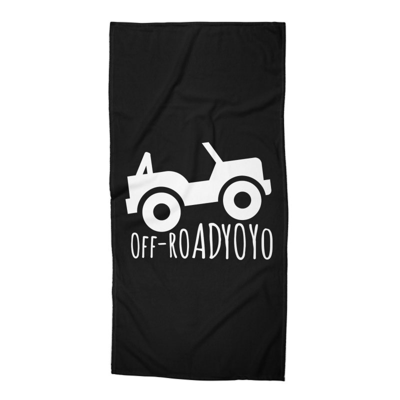 OFF-ROAD YOYO Logo, white Accessories Beach Towel by OFF-ROAD YOYO