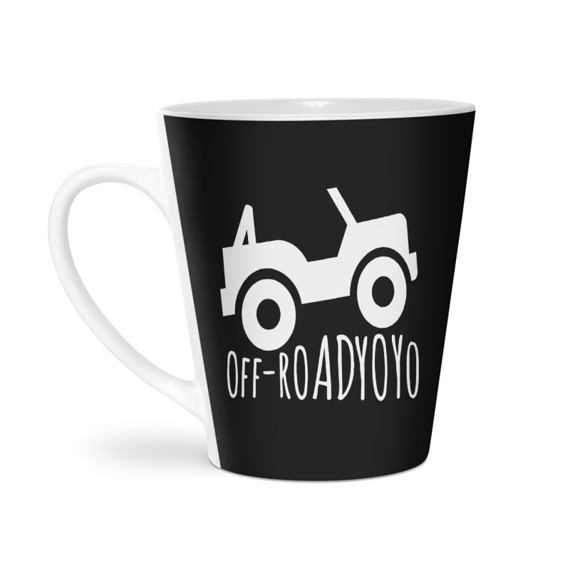 OFF-ROAD YOYO Logo, white Accessories Latte Mug by OFF-ROAD YOYO