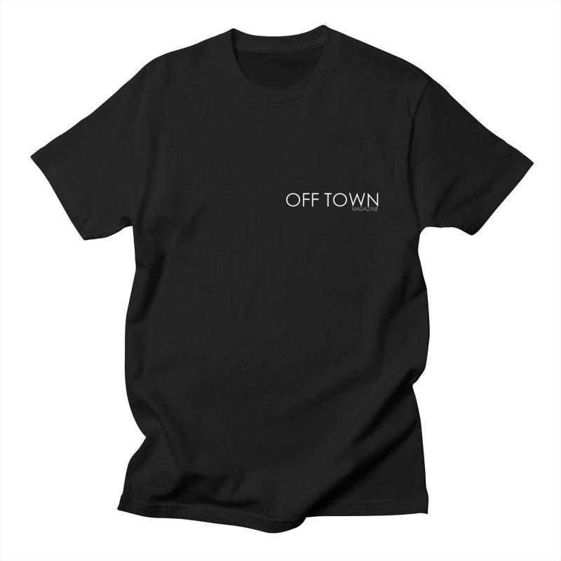 OFF TOWN LOGO WHITE mini Men's T-Shirt by OFF TOWN MAGAZINE