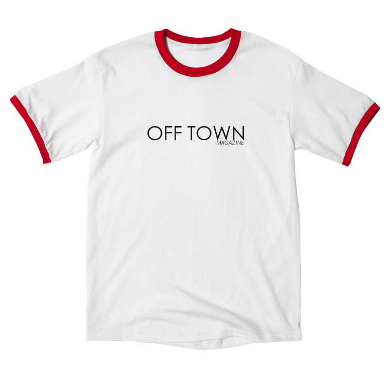 OFF TOWN LOGO BLACK Men's T-Shirt by OFF TOWN MAGAZINE