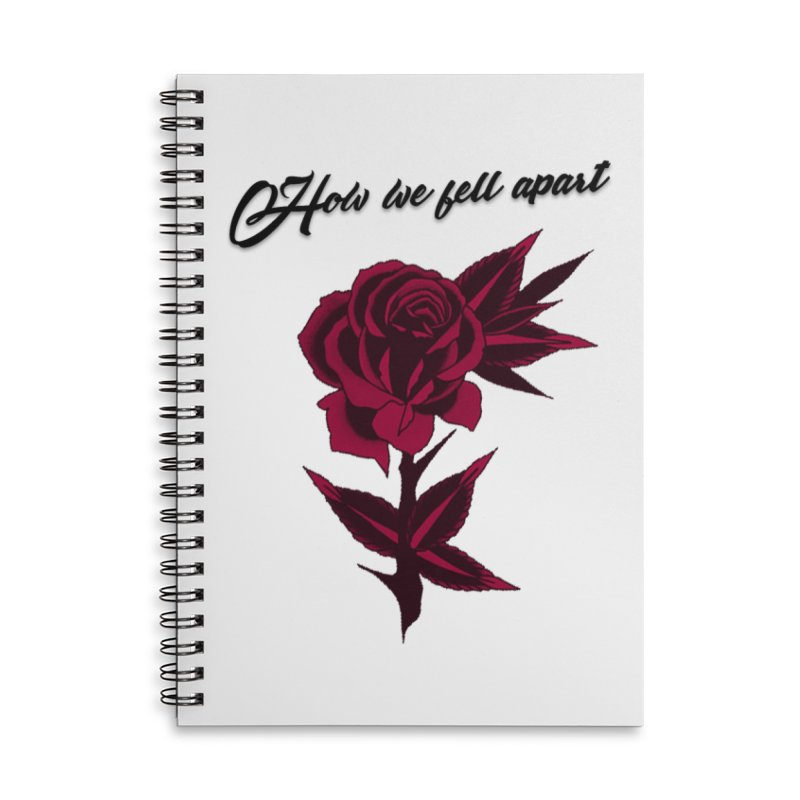 How We Fell Apart Collection Accessories Notebook by Of Heart - Official Merch