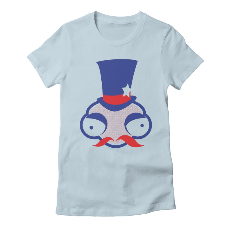 Dandy Uncle Sammy Women's Fitted T-Shirt by OFU Invasion