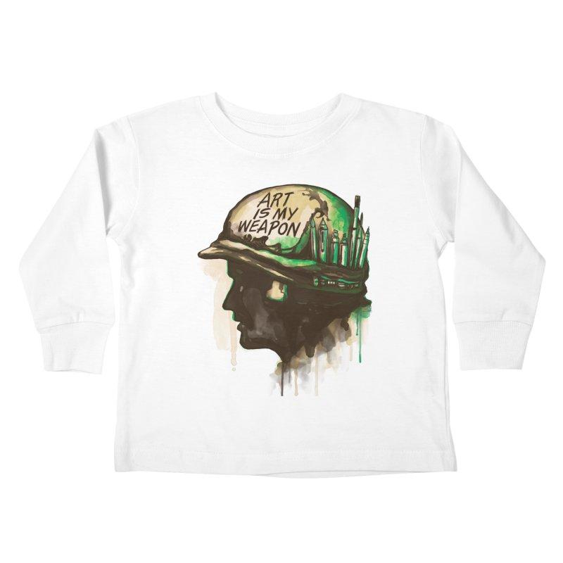 ART OF WAR Kids Toddler Longsleeve T-Shirt by RGRLV