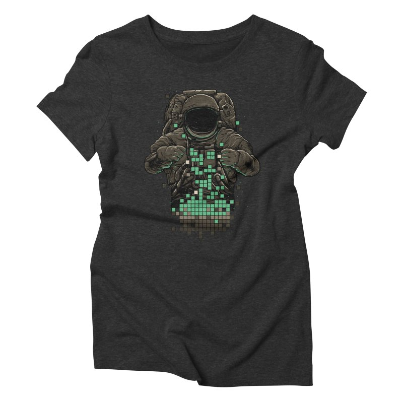 COSMIC TETRIS Women's Triblend T-shirt by RGRLV