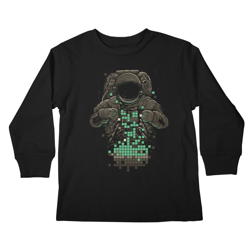 COSMIC TETRIS Kids Longsleeve T-Shirt by RGRLV