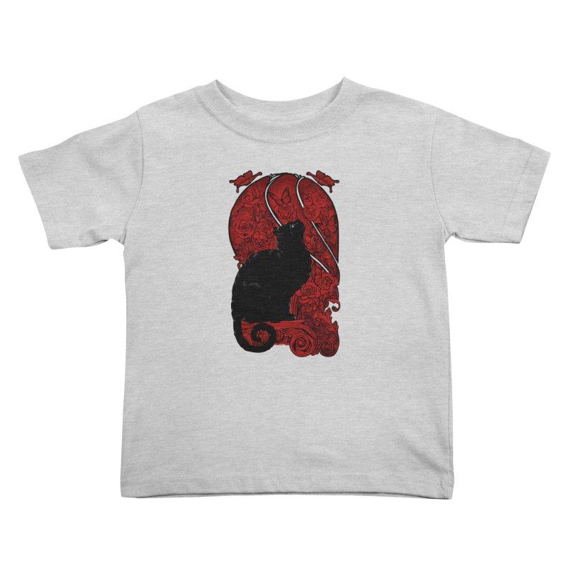 CAT & BUTTERLIES Kids Toddler T-Shirt by RGRLV