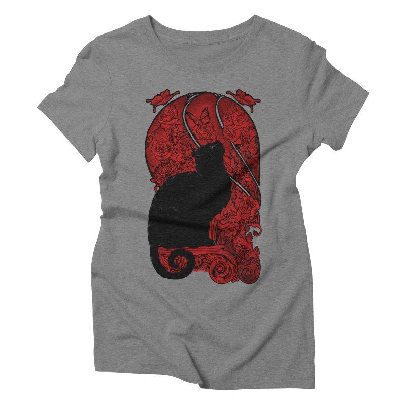 CAT & BUTTERLIES Women's Triblend T-Shirt by RGRLV