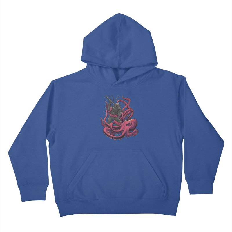 PURPLE ATTACK Kids Pullover Hoody by RGRLV