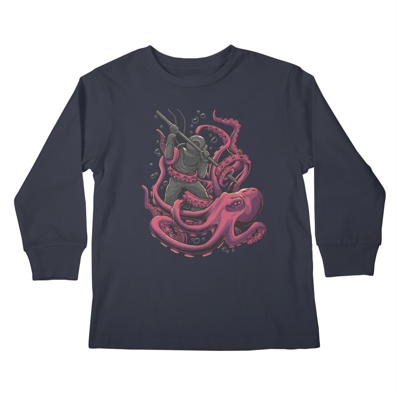PURPLE ATTACK Kids Longsleeve T-Shirt by RGRLV