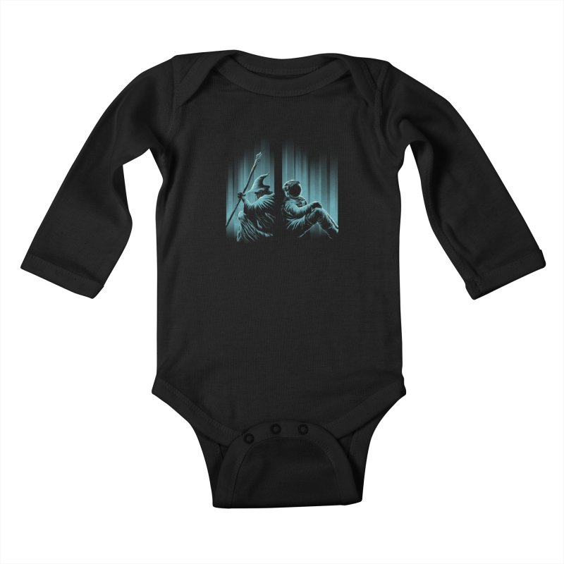 WHERE IS THE MIDDLE EARTH? Kids Baby Longsleeve Bodysuit by RGRLV