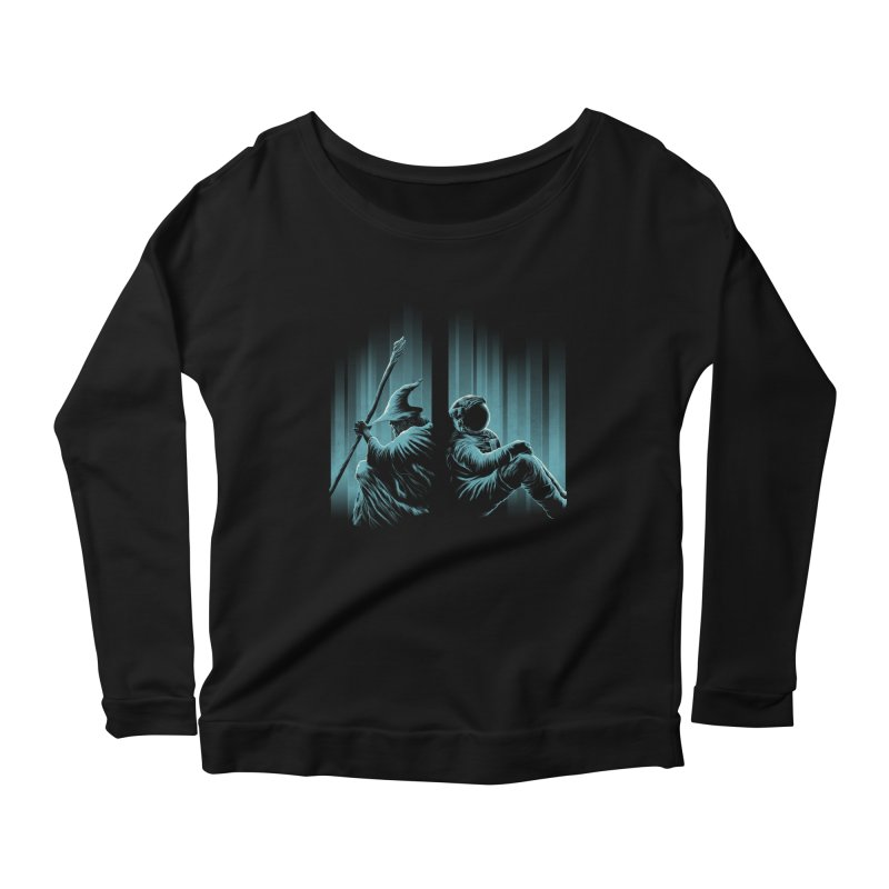 WHERE IS THE MIDDLE EARTH? Women's Longsleeve Scoopneck  by RGRLV