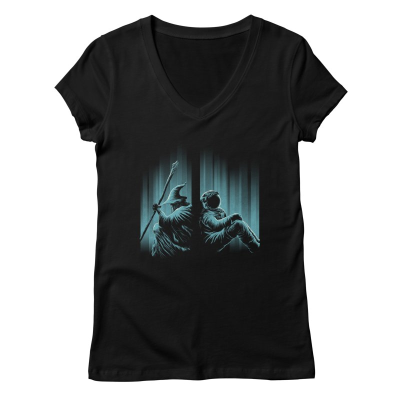 WHERE IS THE MIDDLE EARTH? Women's V-Neck by RGRLV