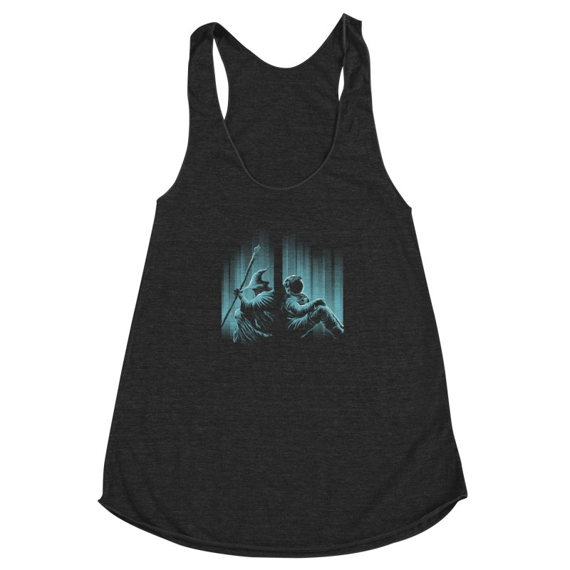 WHERE IS THE MIDDLE EARTH? Women's Racerback Triblend Tank by RGRLV