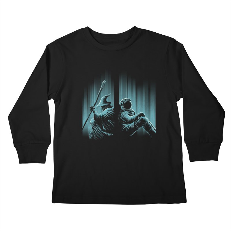 WHERE IS THE MIDDLE EARTH? Kids Longsleeve T-Shirt by RGRLV