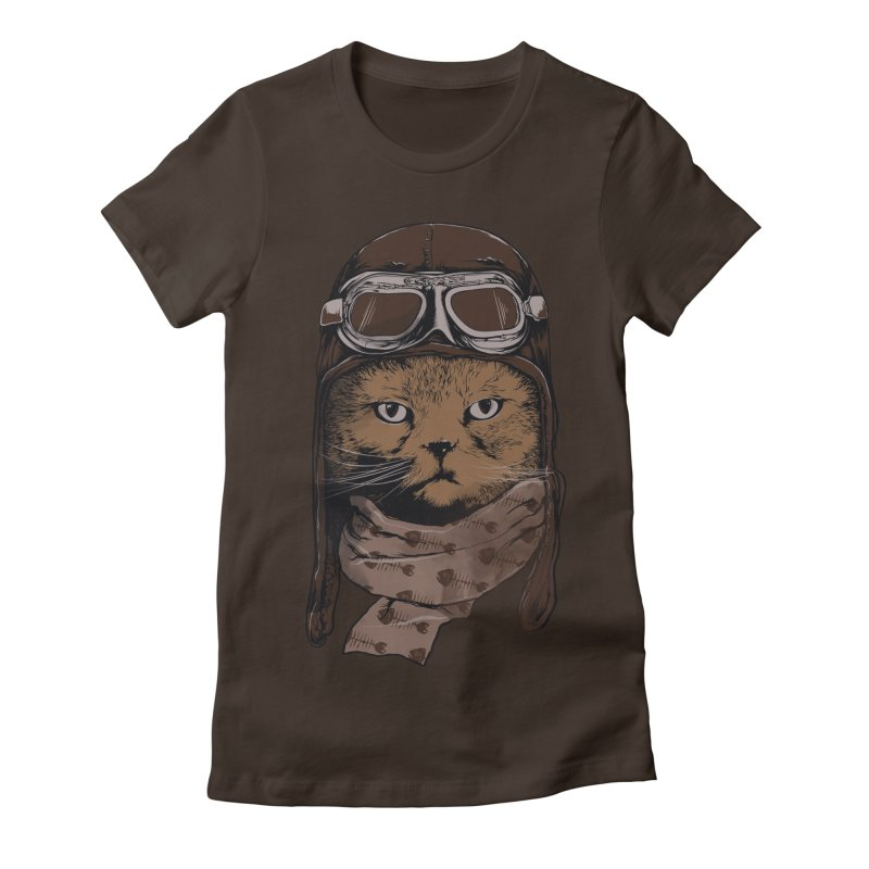 AEROCAT Women's Fitted T-Shirt by RGRLV