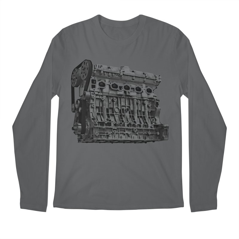White Block Men's Longsleeve T-Shirt by ULTRA EPIC MEGA STOKE RAD
