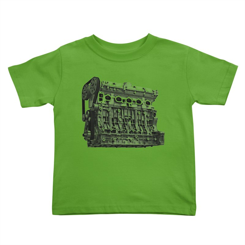 White Block Kids Toddler T-Shirt by ULTRA EPIC MEGA STOKE RAD