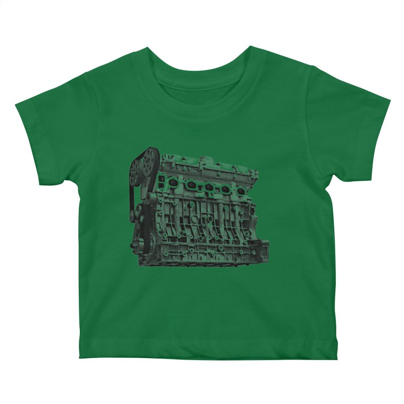 White Block Kids Baby T-Shirt by ULTRA EPIC MEGA STOKE RAD