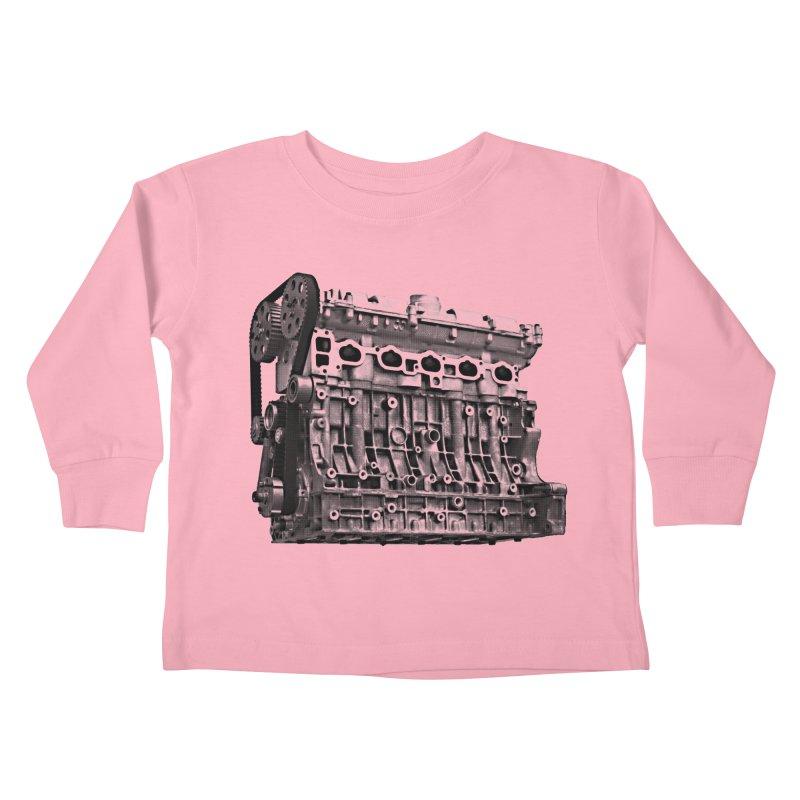 White Block Kids Toddler Longsleeve T-Shirt by ULTRA EPIC MEGA STOKE RAD