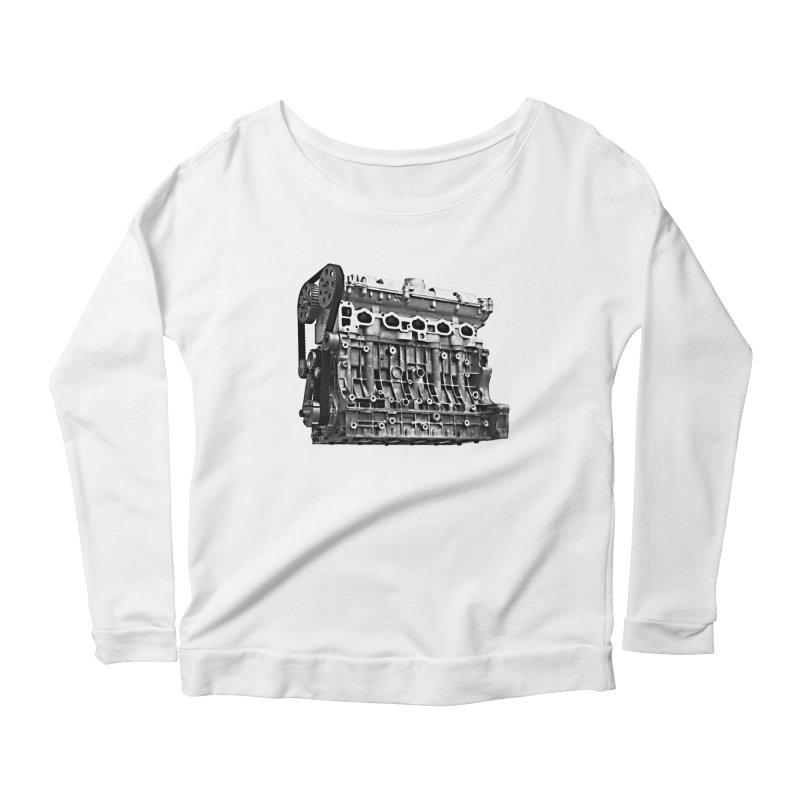White Block Women's Longsleeve T-Shirt by ULTRA EPIC MEGA STOKE RAD
