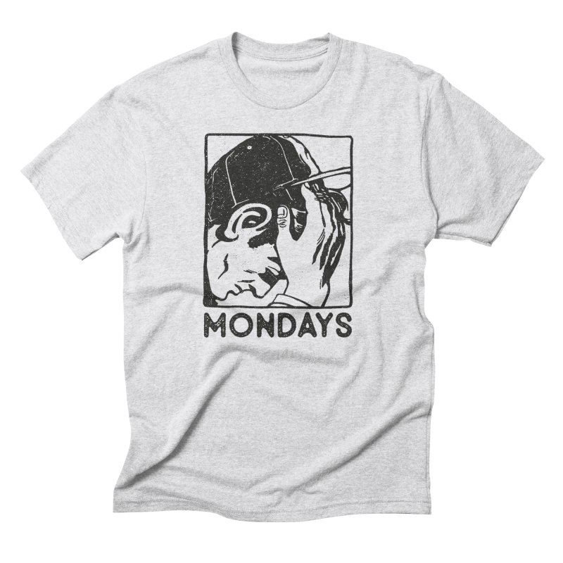#mondays white Men's Triblend T-Shirt by OHBOI Clothing