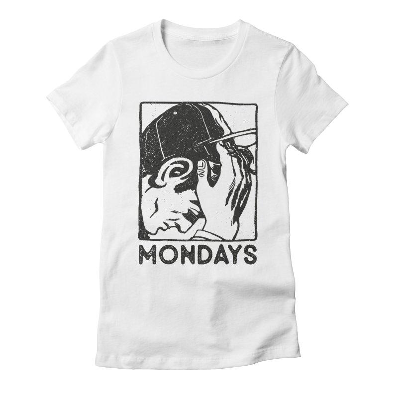 #mondays white Women's Fitted T-Shirt by OHBOI Clothing