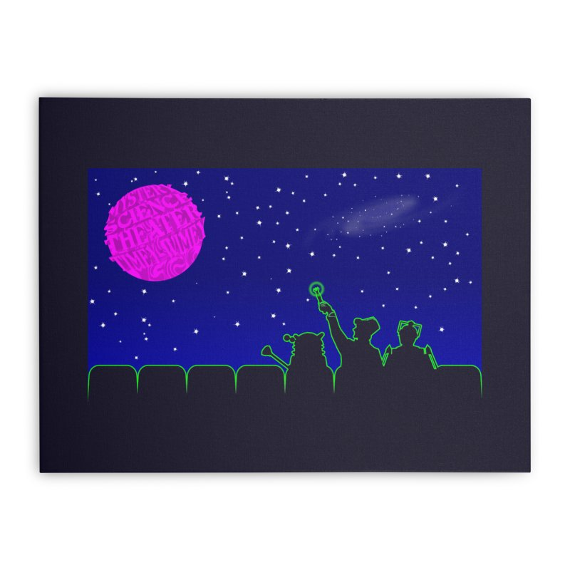 Mystery Science Theater Timey-Wimey Home Stretched Canvas by Inspired Human Artist Shop