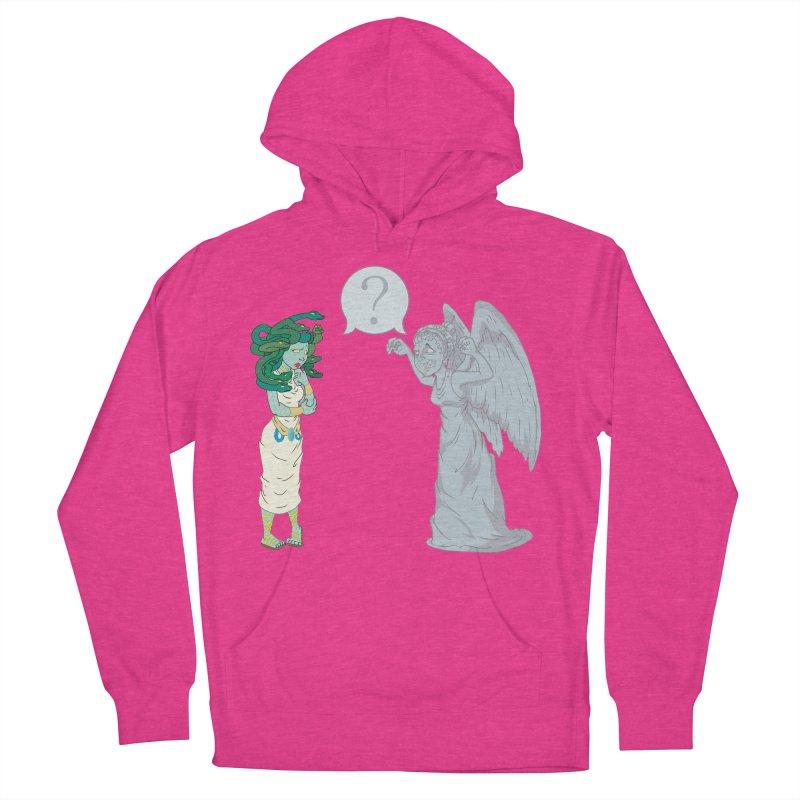Medusa Vs. Weeping Angel Women's Pullover Hoody by Inspired Human Artist Shop