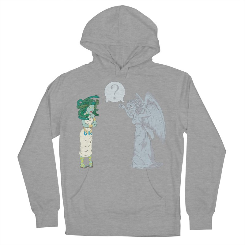 Medusa Vs. Weeping Angel Men's Pullover Hoody by Inspired Human Artist Shop