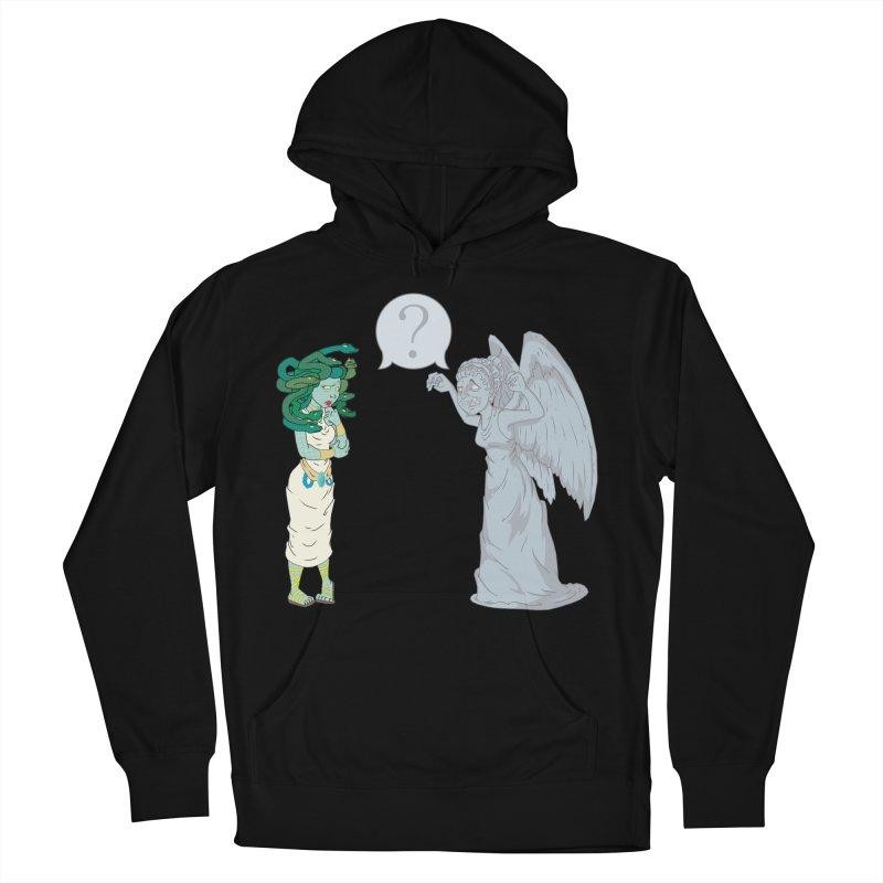 Medusa Vs. Weeping Angel Men's Pullover Hoody by Inspired Human Artist Shop
