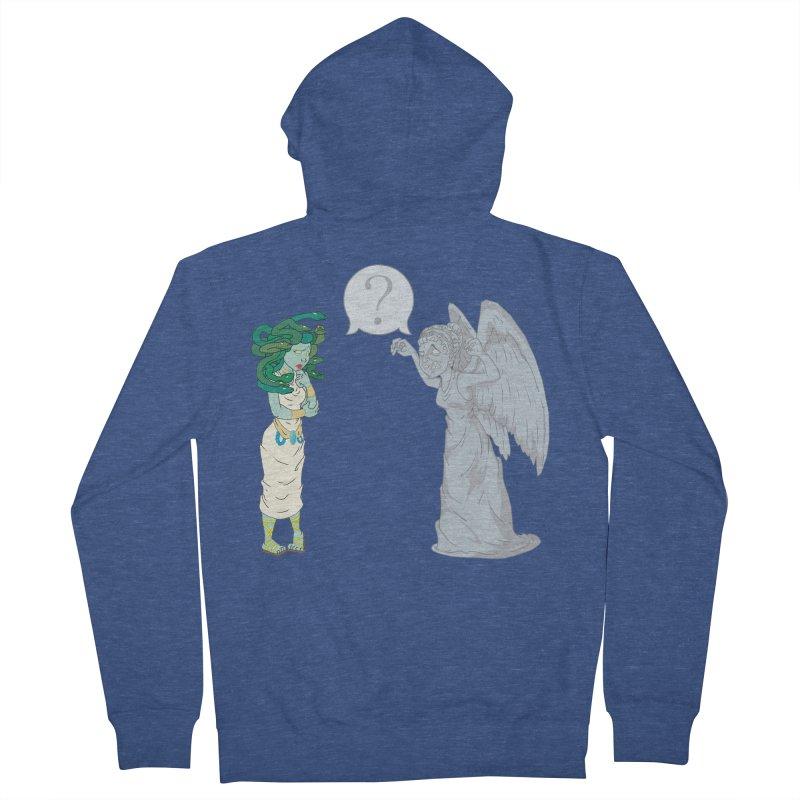 Medusa Vs. Weeping Angel Men's Zip-Up Hoody by Inspired Human Artist Shop