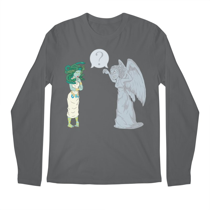 Medusa Vs. Weeping Angel Men's Longsleeve T-Shirt by Inspired Human Artist Shop