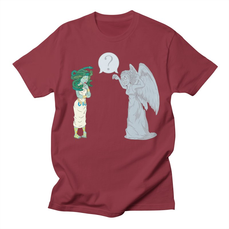 Medusa Vs. Weeping Angel Men's T-Shirt by Inspired Human Artist Shop