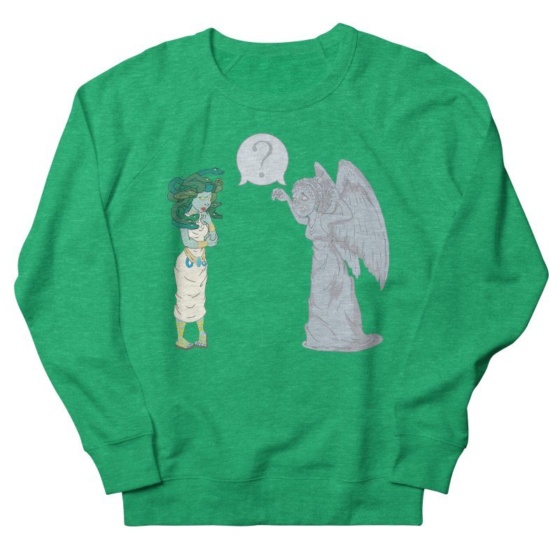 Medusa Vs. Weeping Angel Women's Sweatshirt by Inspired Human Artist Shop