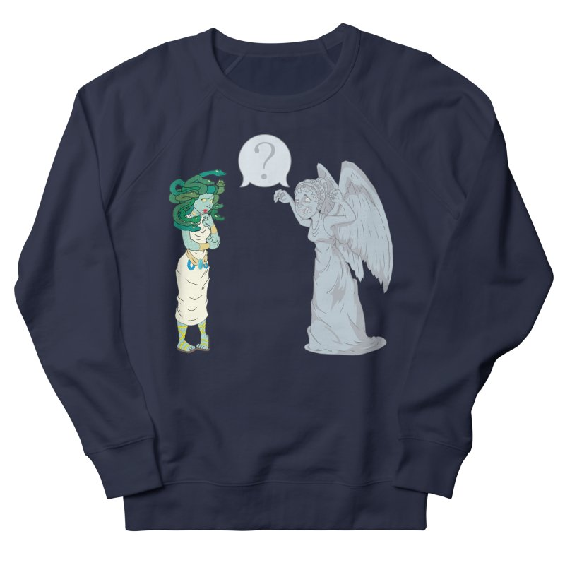 Medusa Vs. Weeping Angel Men's Sweatshirt by Inspired Human Artist Shop
