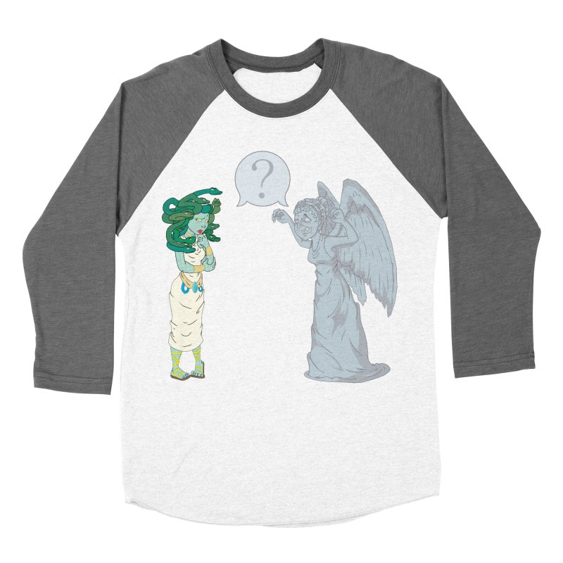 Medusa Vs. Weeping Angel Women's Baseball Triblend T-Shirt by Inspired Human Artist Shop