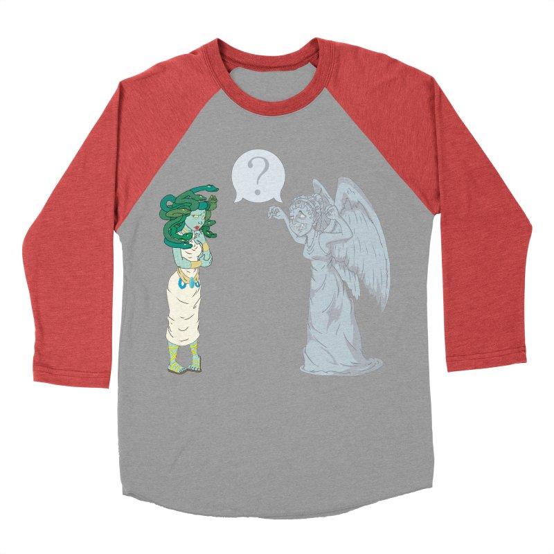 Medusa Vs. Weeping Angel Women's Baseball Triblend T-Shirt by Inspired Human Artist Shop