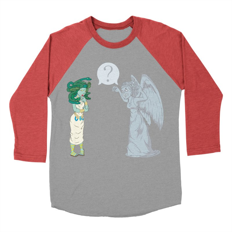 Medusa Vs. Weeping Angel Men's Baseball Triblend T-Shirt by Inspired Human Artist Shop
