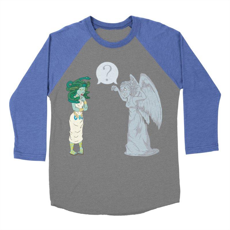 Medusa Vs. Weeping Angel Men's Baseball Triblend T-Shirt by Inspired Human Artist Shop