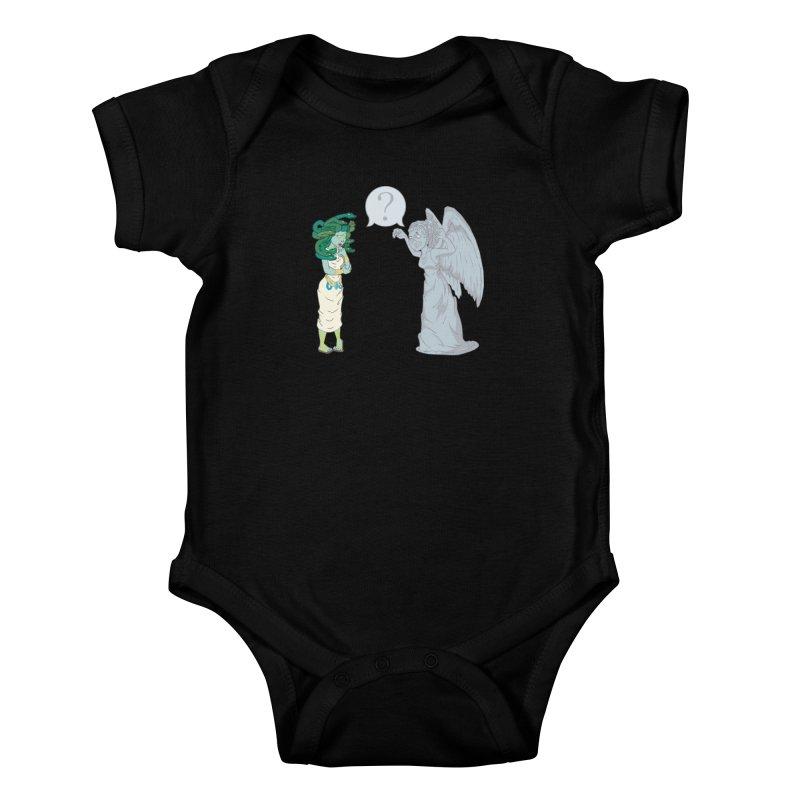 Medusa Vs. Weeping Angel Kids Baby Bodysuit by Inspired Human Artist Shop