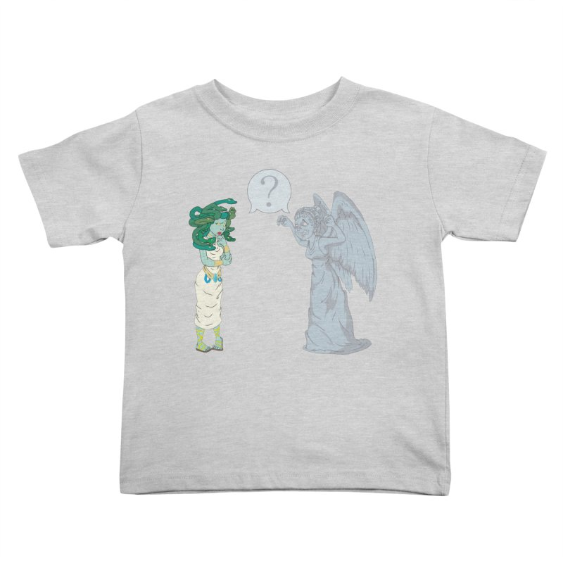 Medusa Vs. Weeping Angel Kids Toddler T-Shirt by Inspired Human Artist Shop