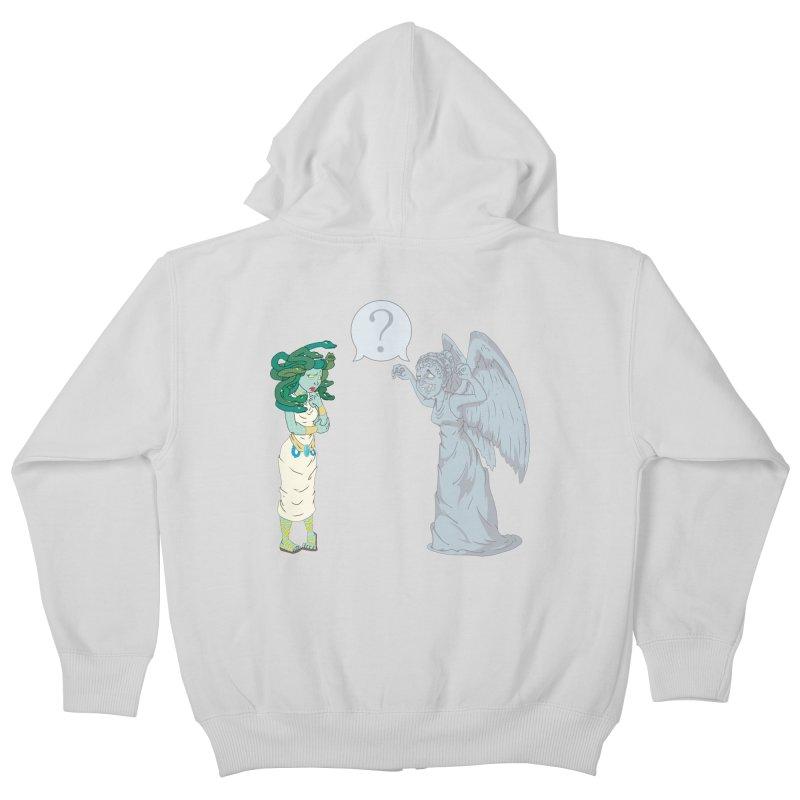 Medusa Vs. Weeping Angel Kids Zip-Up Hoody by Inspired Human Artist Shop