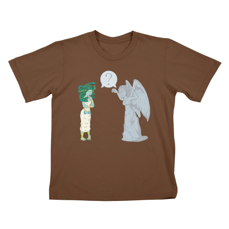 Medusa Vs. Weeping Angel Kids T-shirt by Inspired Human Artist Shop
