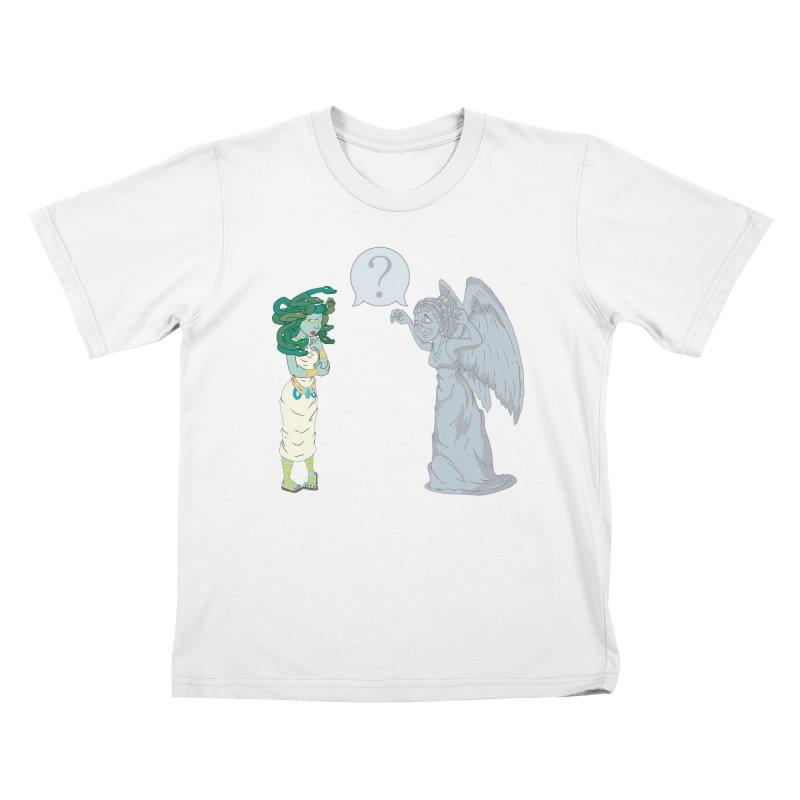 Medusa Vs. Weeping Angel Kids T-Shirt by Inspired Human Artist Shop