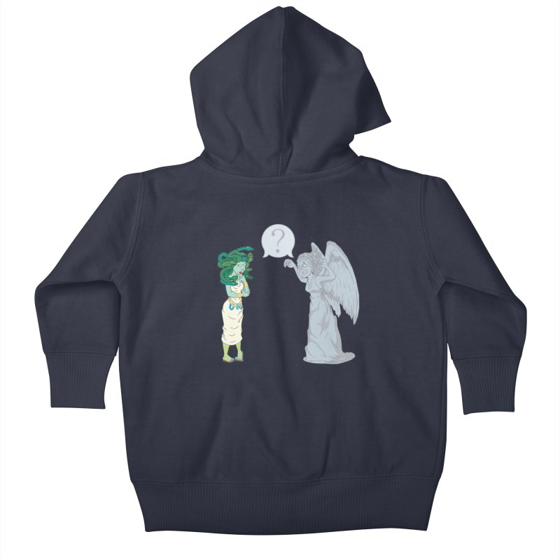 Medusa Vs. Weeping Angel Kids Baby Zip-Up Hoody by Inspired Human Artist Shop