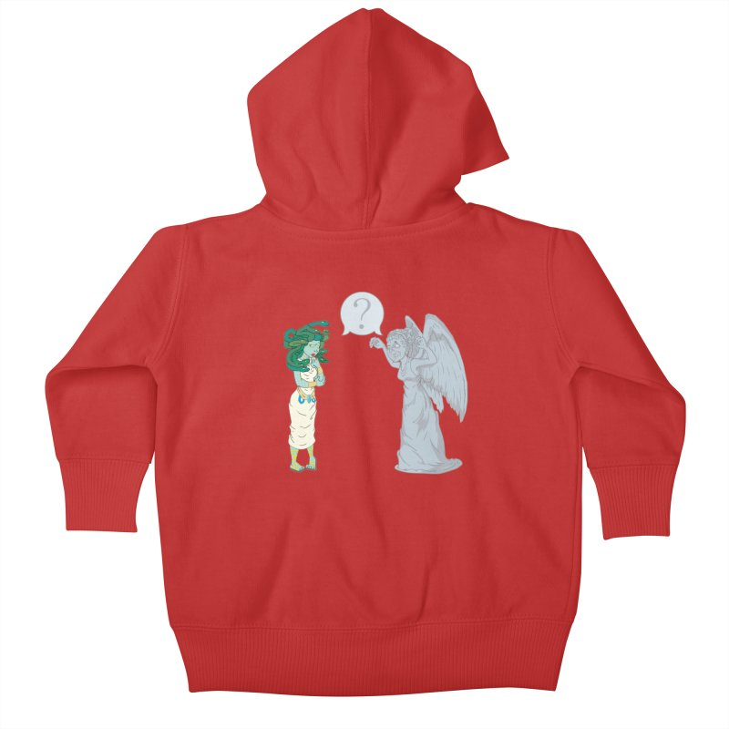 Medusa Vs. Weeping Angel Kids Baby Zip-Up Hoody by Inspired Human Artist Shop