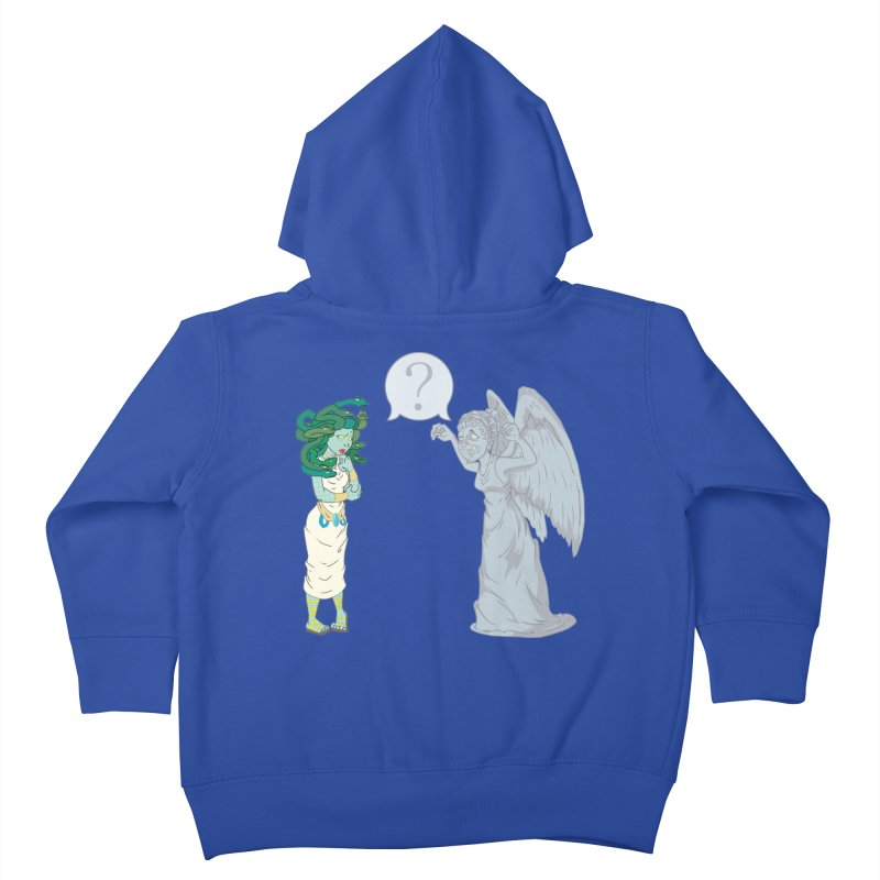 Medusa Vs. Weeping Angel Kids Toddler Zip-Up Hoody by Inspired Human Artist Shop