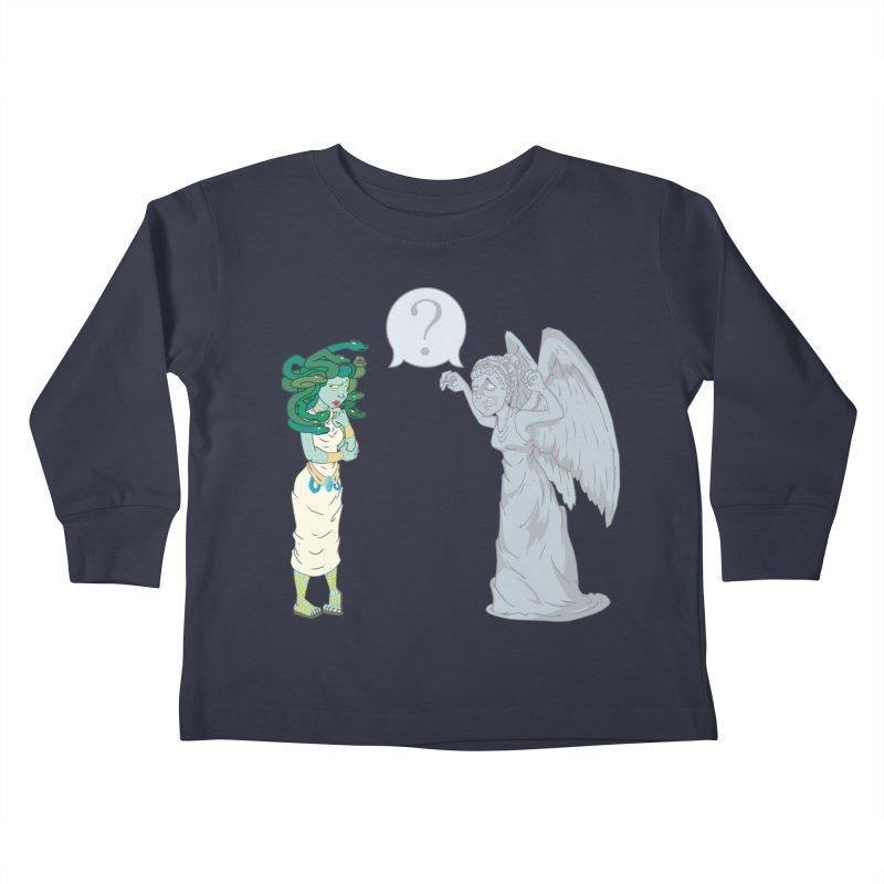 Medusa Vs. Weeping Angel Kids Toddler Longsleeve T-Shirt by Inspired Human Artist Shop