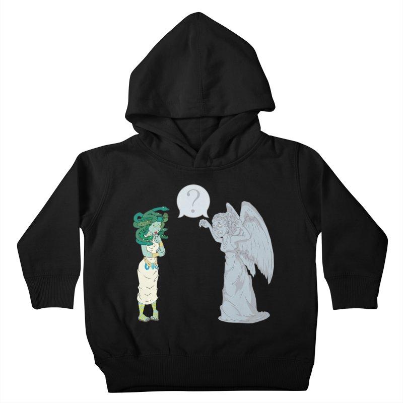 Medusa Vs. Weeping Angel Kids Toddler Pullover Hoody by Inspired Human Artist Shop