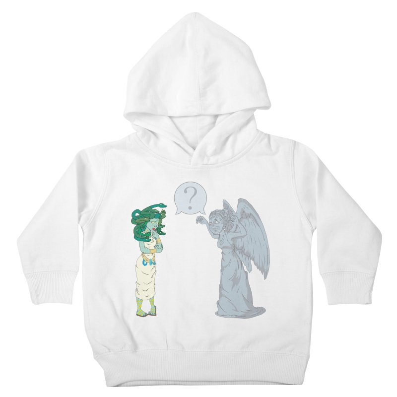 Medusa Vs. Weeping Angel Kids Toddler Pullover Hoody by Inspired Human Artist Shop